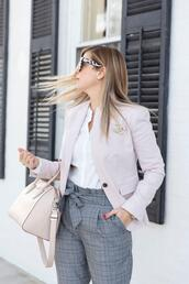 suburban faux-pas,blogger,jacket,blouse,pants,bag,shoes