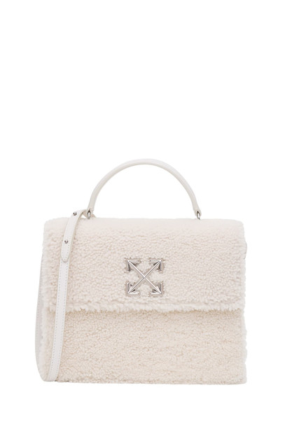 Off-White 2.8 Jitney Furry Bag in bianco