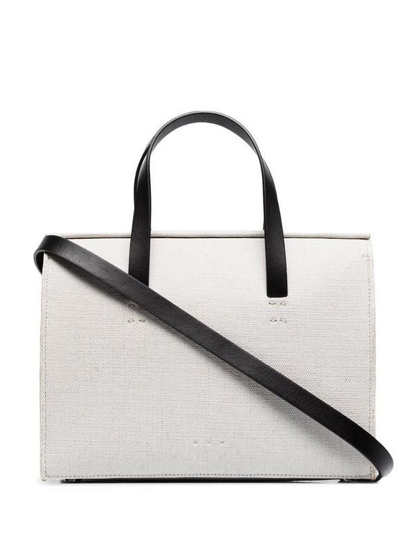 Aesther Ekme mini barrel tote bag in white