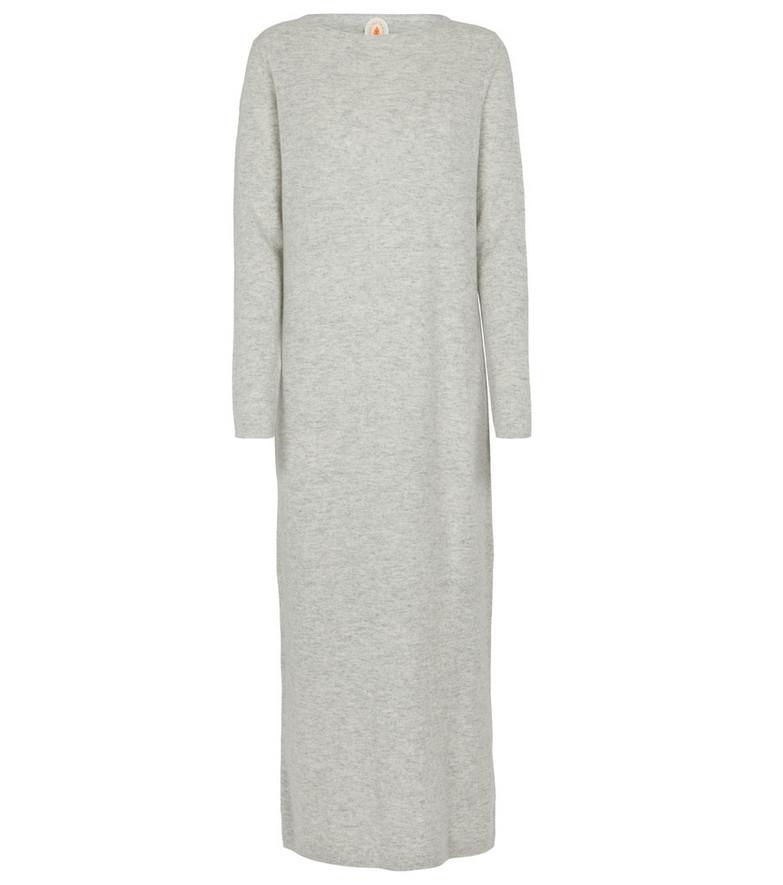 Jardin des Orangers Wool and cashmere sweater midi dress in grey