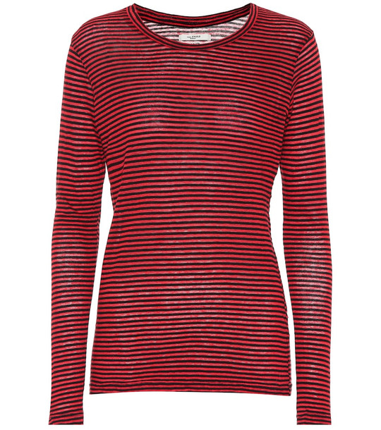 Isabel Marant, Étoile Kaaron striped cotton and linen top in red