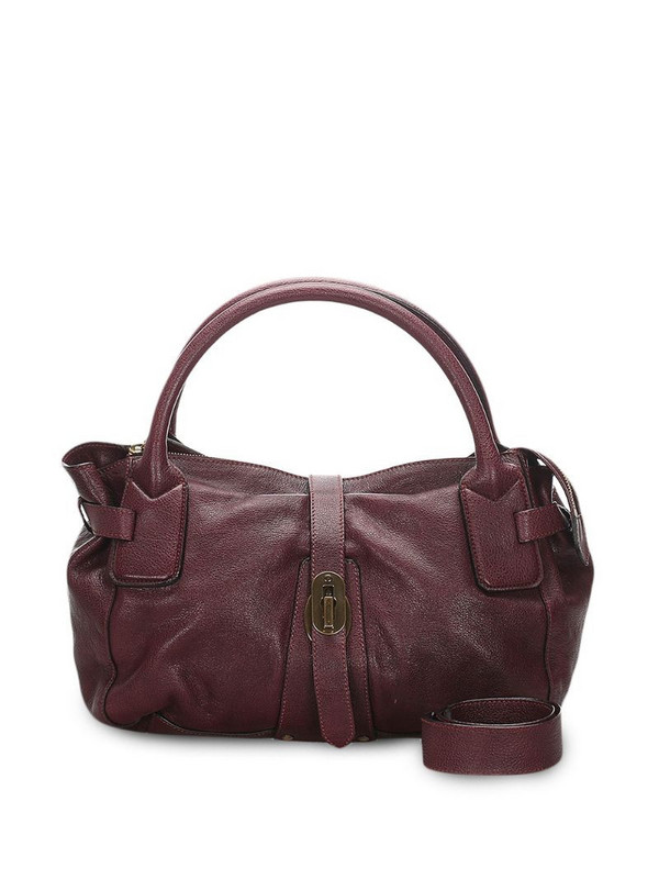 Burberry Pre-Owned grained-leather shoulder bag in red