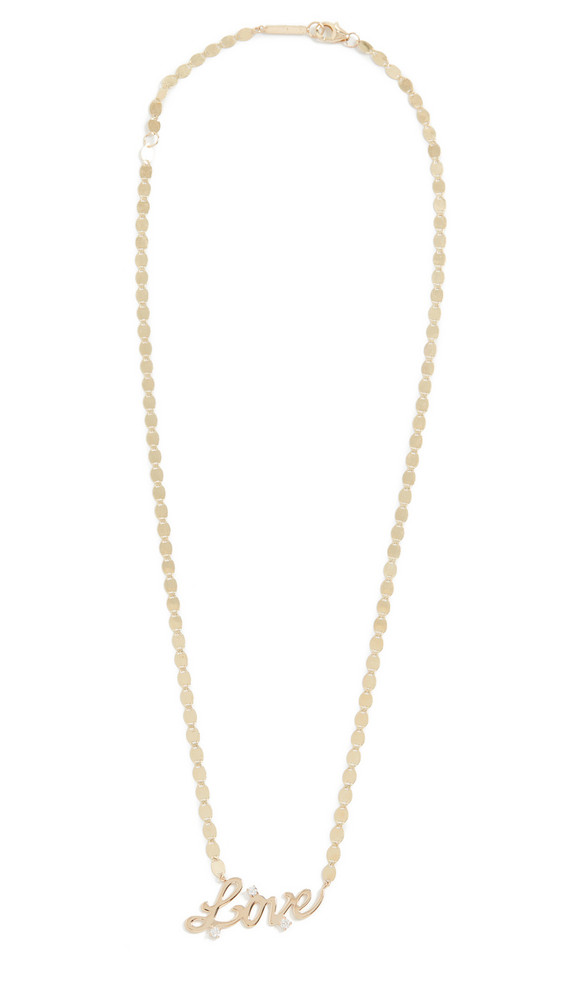 LANA JEWELRY 14k Solo Love Necklace in yellow