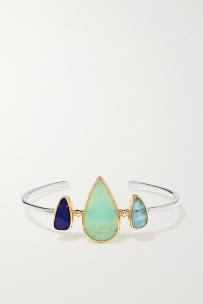 Melissa Joy Manning - 14-karat Gold And Sterling Silver Multi-stone Cuff