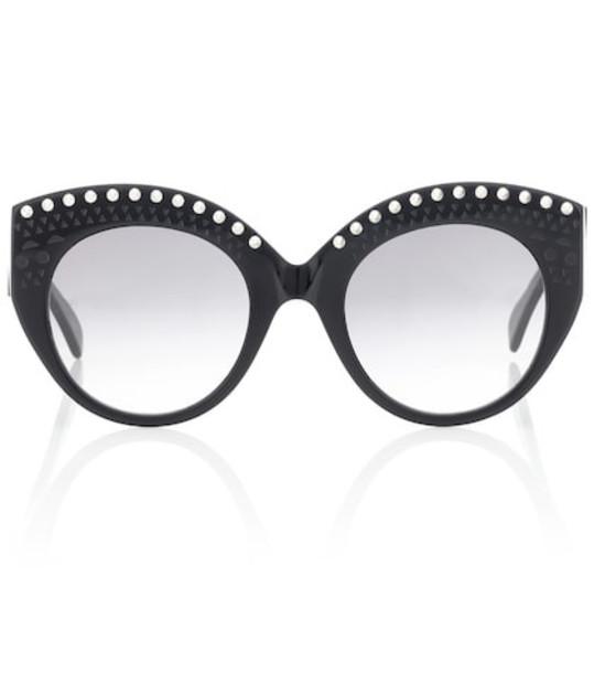 Alaia Embellished acetate sunglasses in black