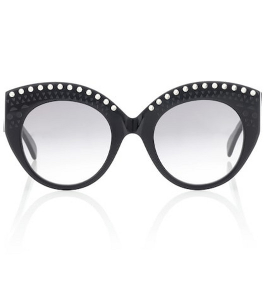 Alaia Embellished acetate sunglasses in black