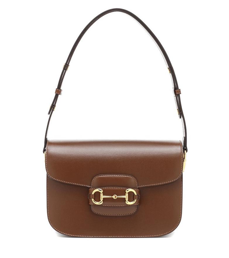 Gucci 1955 Horsebit leather shoulder bag in brown