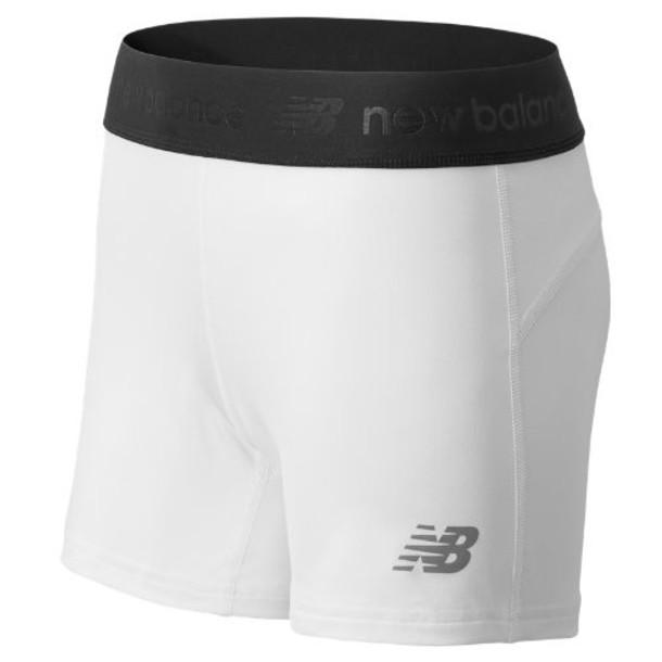 New Balance 609 Women's NB Compression Short - White (TMWS609WT)