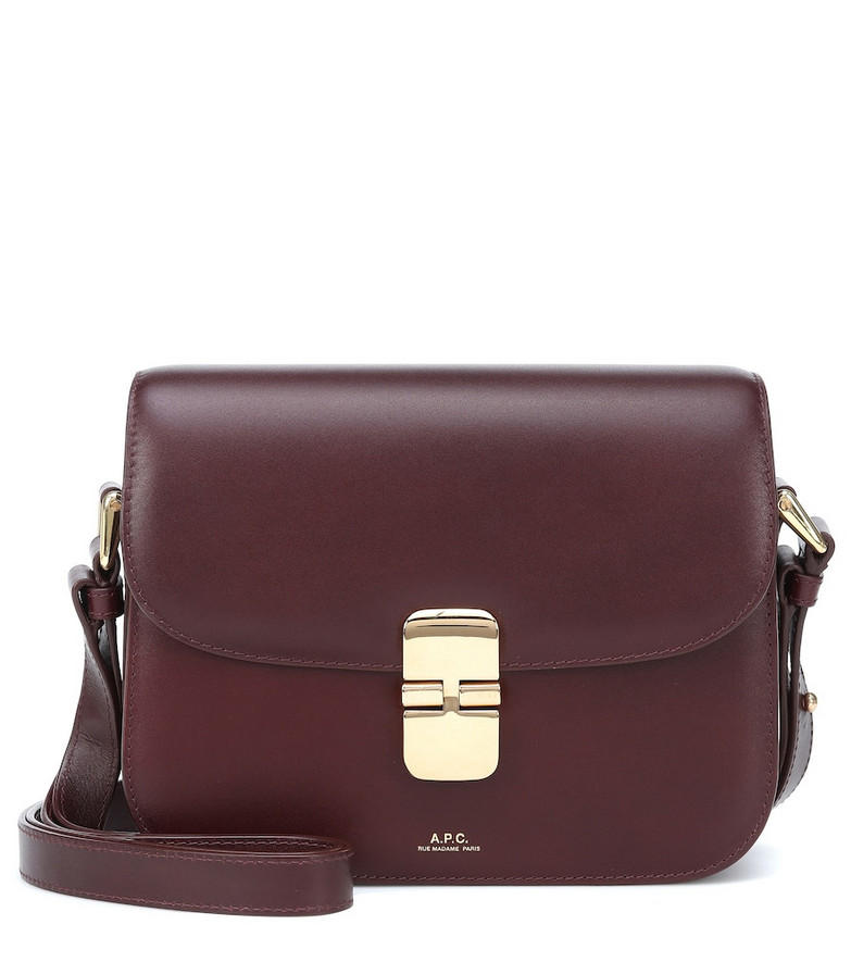 A.P.C. Grace Small leather shoulder bag in red