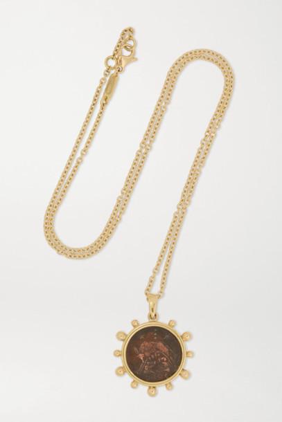 Dubini - Capitoline Wolf 18-karat Gold And Bronze Necklace