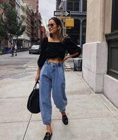 jeans,denim,blue jeans,top,black top,crop tops