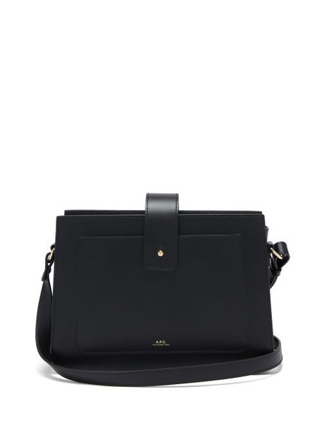A.P.C. A.P.C. - Albane Smooth-leather Cross-body Bag - Womens - Black