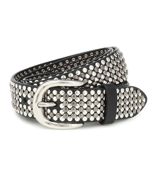 Isabel Marant Studded leather belt in silver