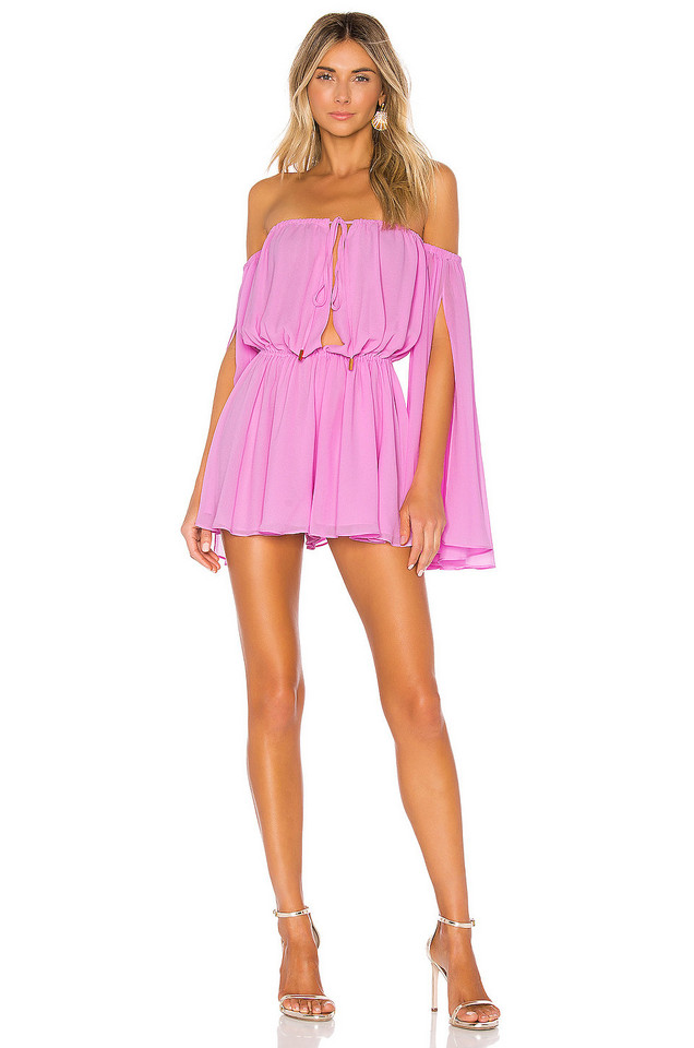 Michael Costello x REVOLVE Mishka Romper in purple