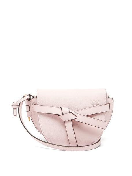 Loewe - Gate Mini Leather Cross-body Bag - Womens - Light Pink
