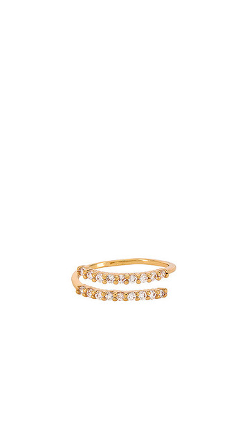 Ettika Spiral Ring in Metallic Gold