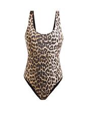 print,leopard print,swimwear