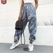 pants,joggers,instagram,blue,joggers pants,hippie,boho