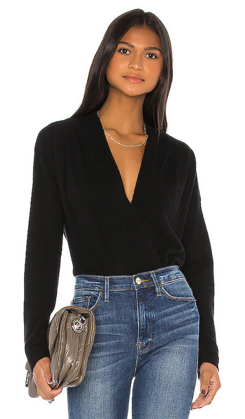 FRAME Criss Cross Sweater in Black