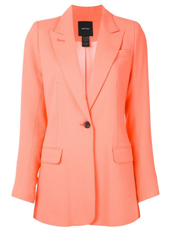 Smythe longline tailored blazer in orange