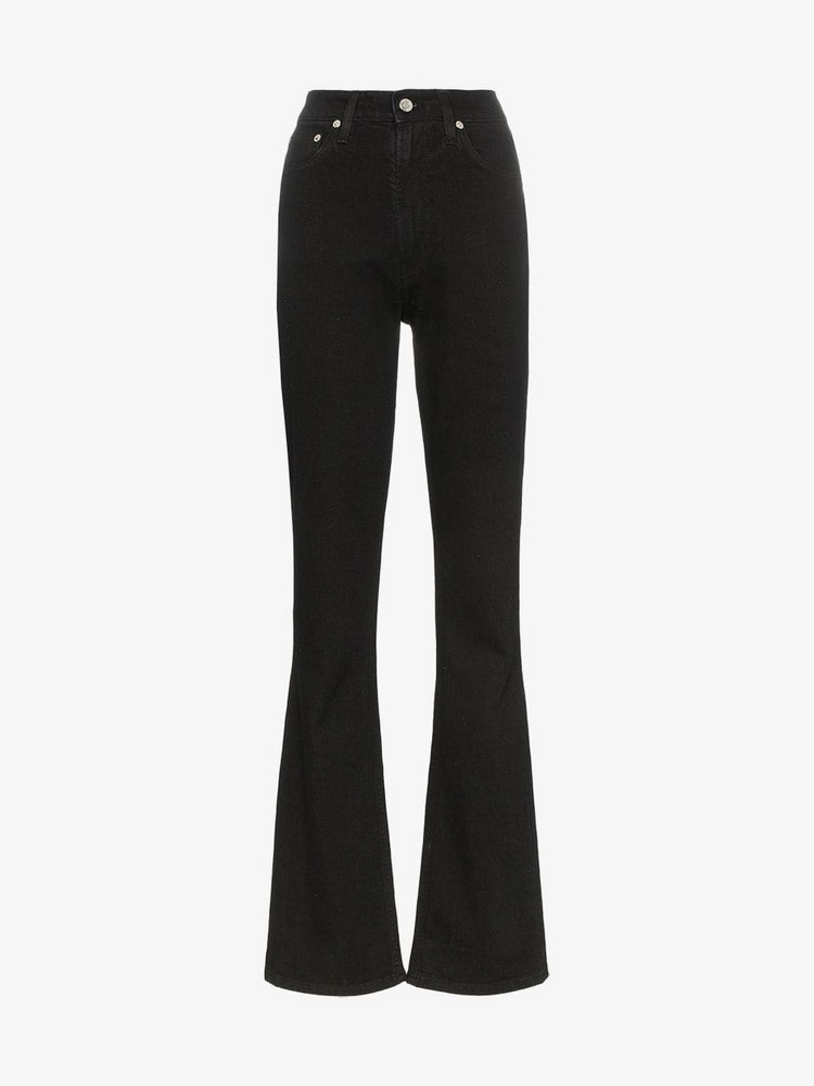 Helmut Lang high-waisted straight-fit jeans in black