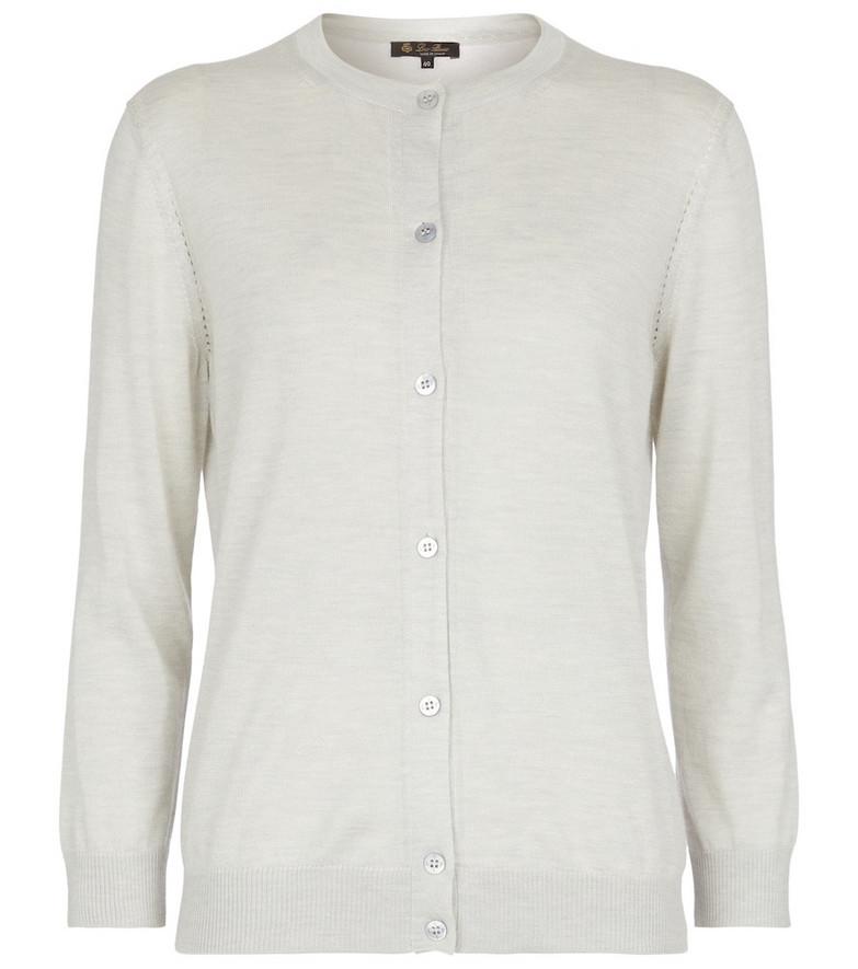 Loro Piana Brera cashmere and silk cardigan in grey
