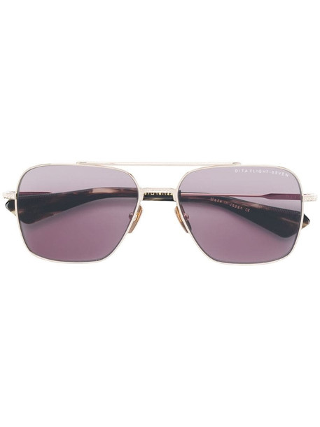 Dita Eyewear Flight Seven navigator sunglasses in metallic