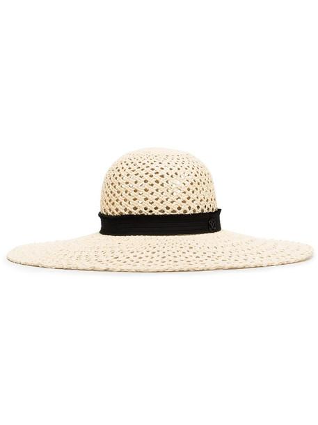 Maison Michel Blanche woven straw hat in neutrals