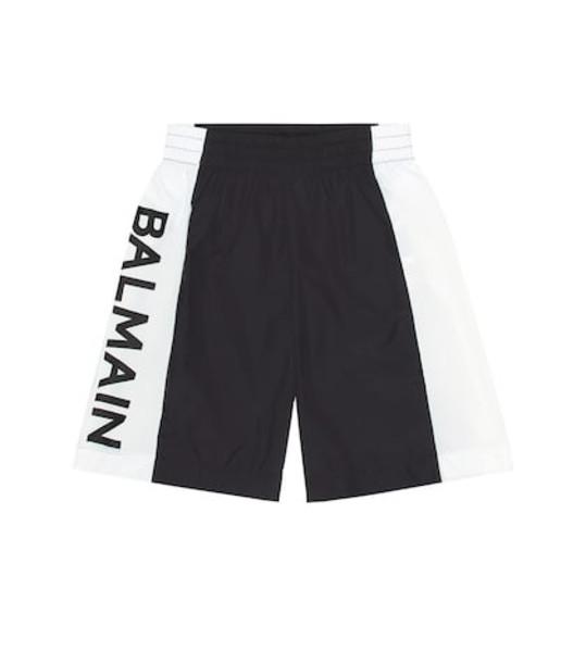 Balmain Kids Logo swim shorts in black