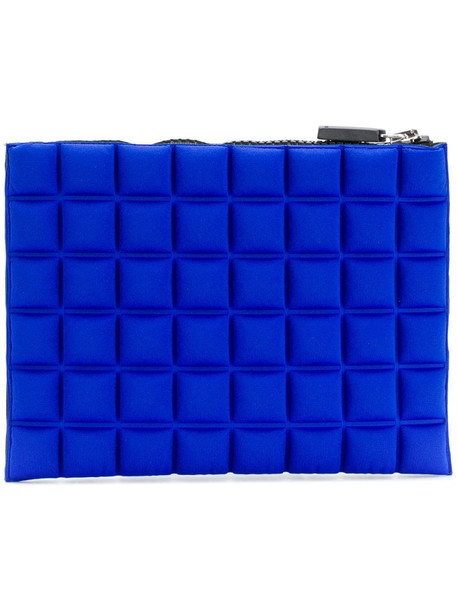 No Ka' Oi chocolate bar quilted pouch in blue