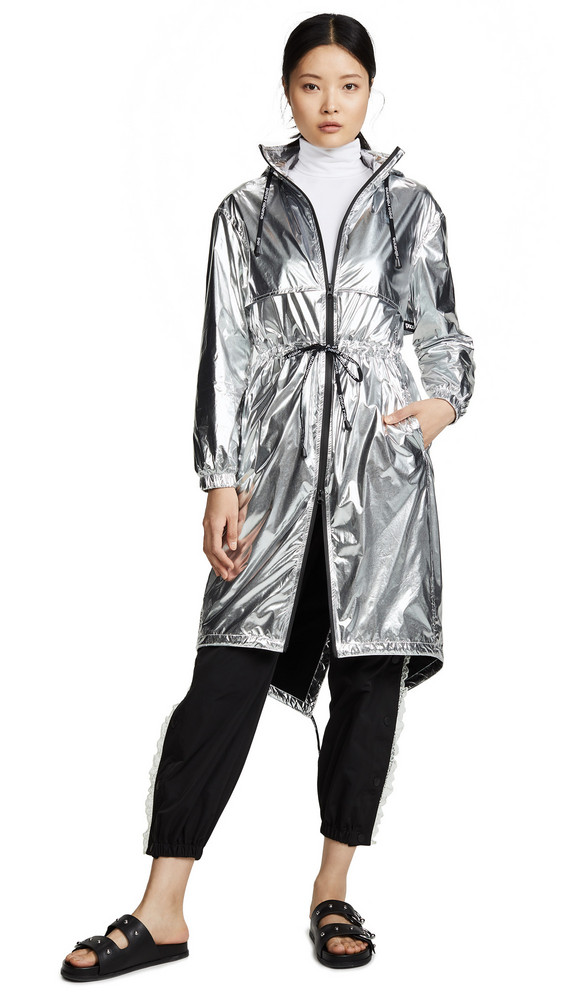 7892d9291ec 3.1 Phillip Lim Metallic Trench Coat in silver - Wheretoget