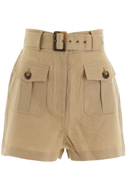 Zimmermann Linen Shorts in sand / beige