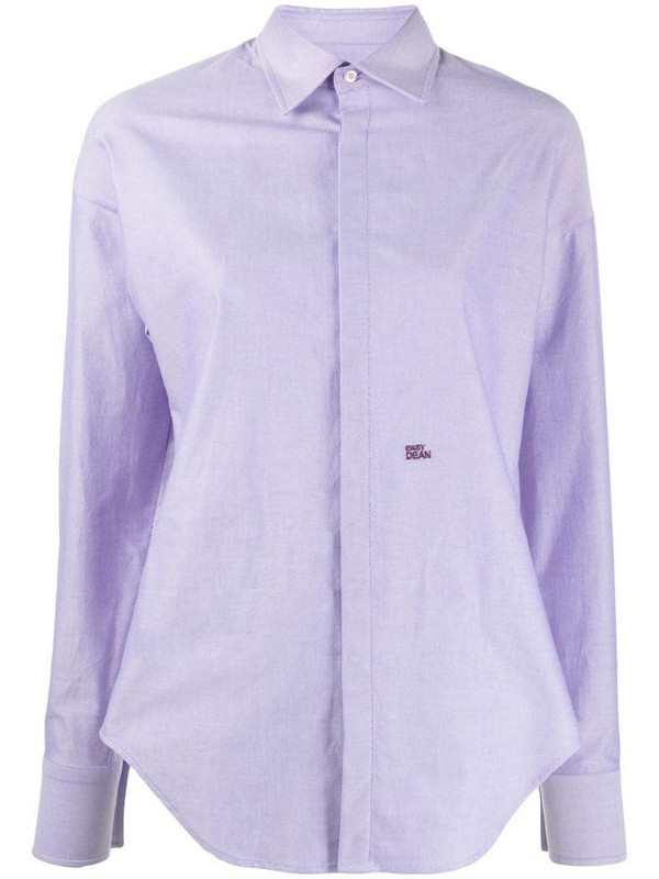 Dsquared2 Easy Dean embroidered shirt in purple