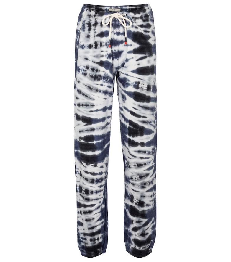 Tory Sport Tie-dye cotton-blend sweatpants in blue