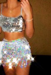 skirt,sparkly set,matching set,sparkle,dress