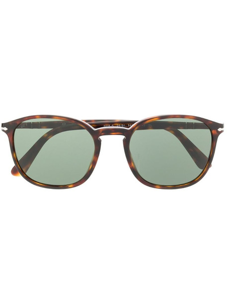 Persol round frame sunglasses in brown