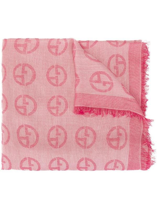 Giorgio Armani logo scarf in pink