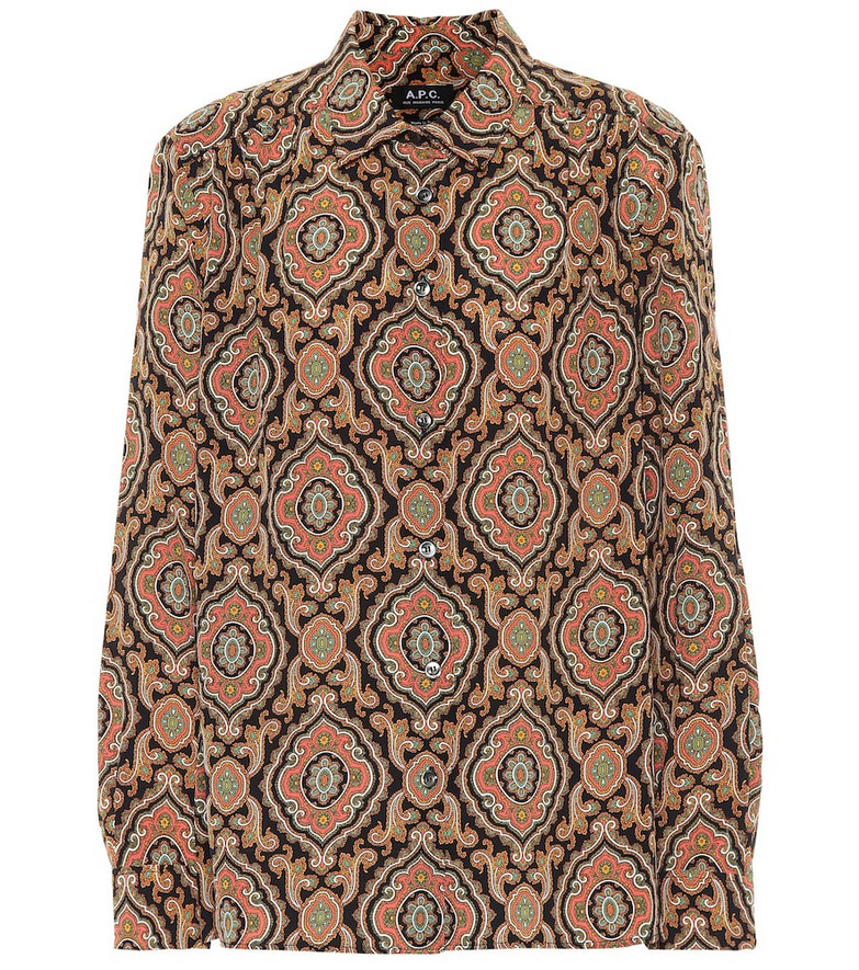 A.P.C. Sutton printed silk blouse in beige