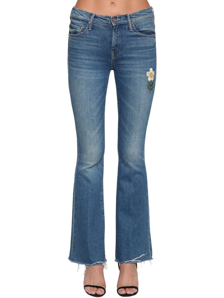MOTHER The Weekender Embroidered Denim Jeans in blue