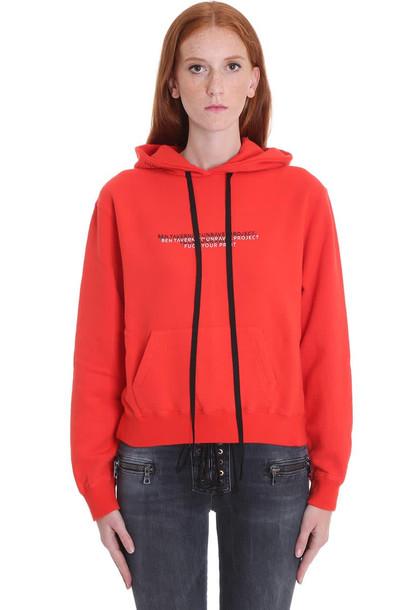 Ben Taverniti Unravel Project Sweatshirt In Red Cotton
