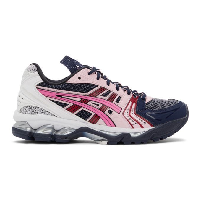 Asics Navy and Pink UB1-S Gel-Kayano 14 Sneakers in midnight