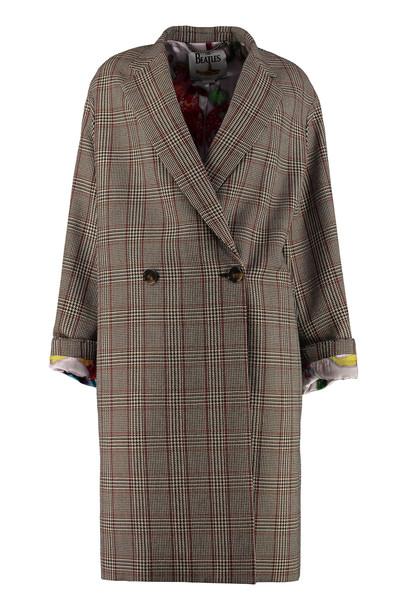 Stella McCartney Double-breasted Wool Coat in black