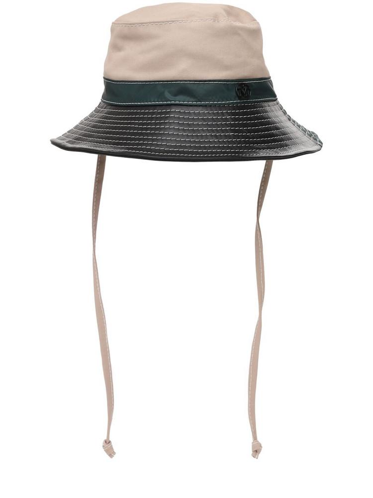 MAISON MICHEL Angele Color & Material Bloc Hat