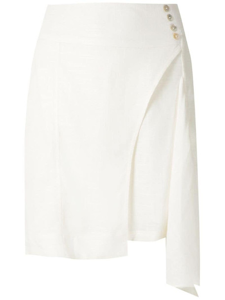 Olympiah Ylang asymmetric short skirt in white