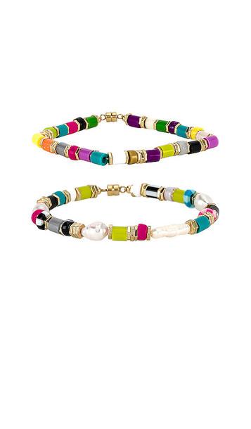 joolz by Martha Calvo Sobe Bracelet Set in Pink