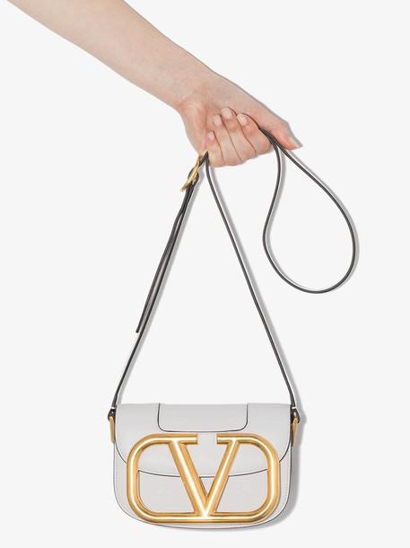 Valentino VAL MYVLOGO GLD HRDWER CAM BAG in white