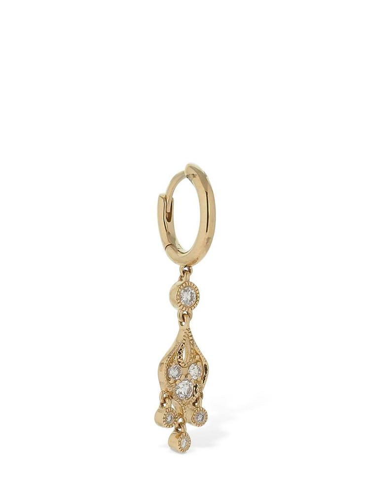 STONE PARIS Sultane 18kt & Diamond Mono Hoop Earring in gold