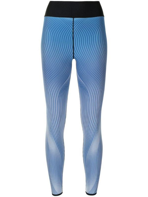 Ultracor Ruffle Wave-print high-rise leggings