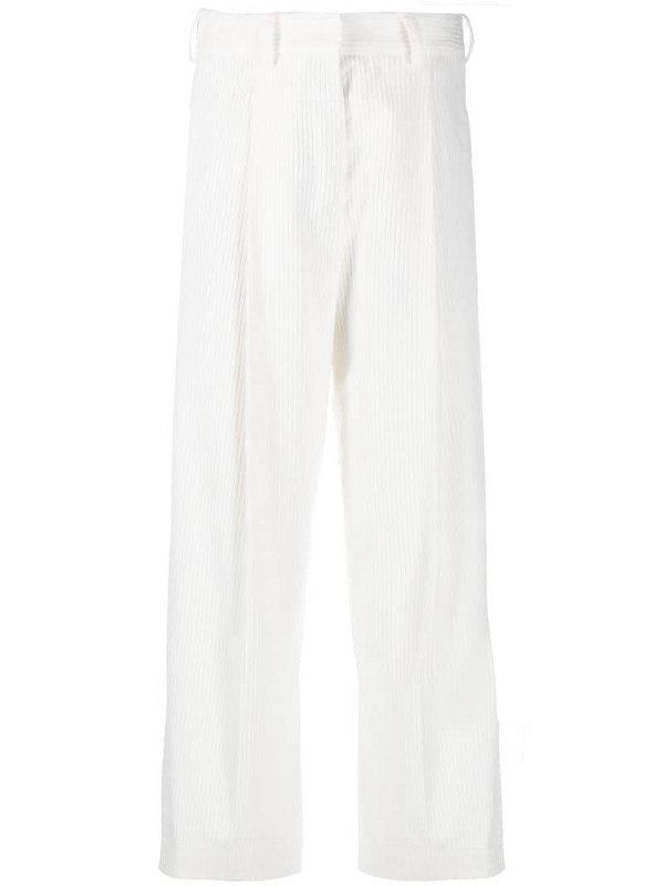 Jejia high-waisted cropped trousers in white