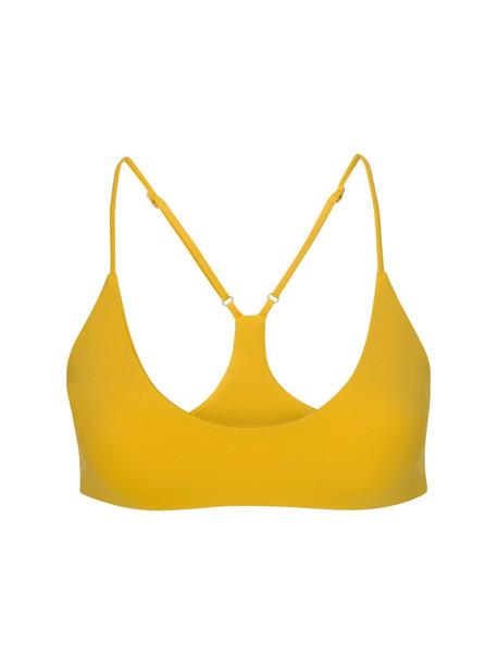 DOS GARDENIAS Wylder Econyl Bikini Top in mustard